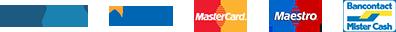 PayPal - Visa - MasterCard - Maestro -Bancontact